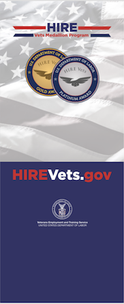 HIRE Vets Medallion Pop-up Banner without Tagline Graphic